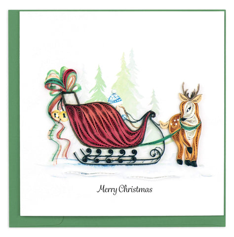 Sleigh Ride Quilling Card