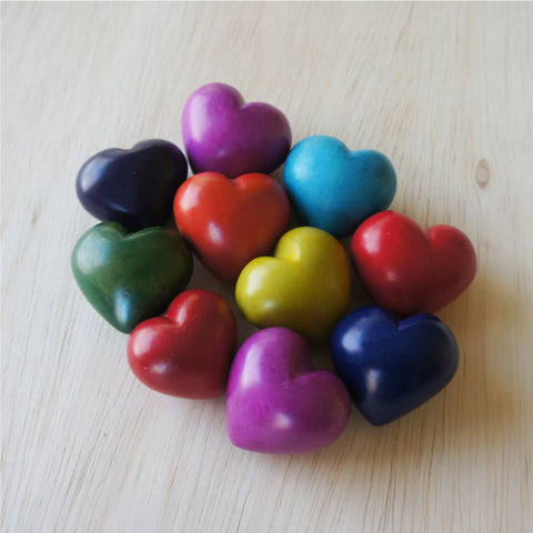 Soapstone Plain Colorful Heart