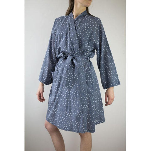 Printed Cotton Robe | Troye Ocean