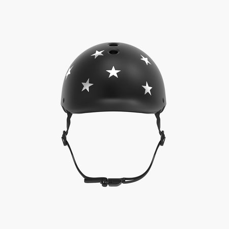 Kids Bike & Scooter Helmet - Stars Black