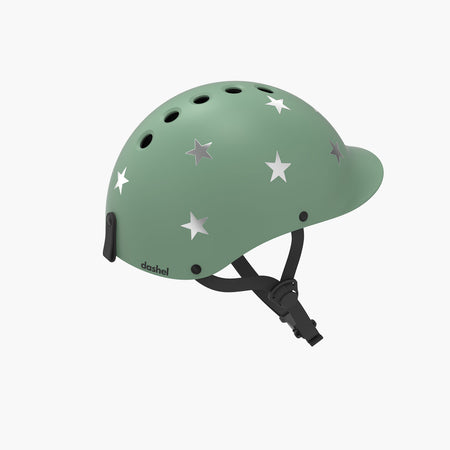 Kids Bike & Scooter Helmet - Stars Sage Green