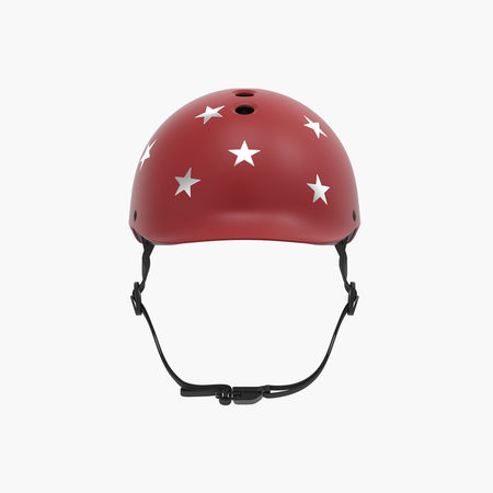 Kids Bike & Scooter Helmet - Stars Red