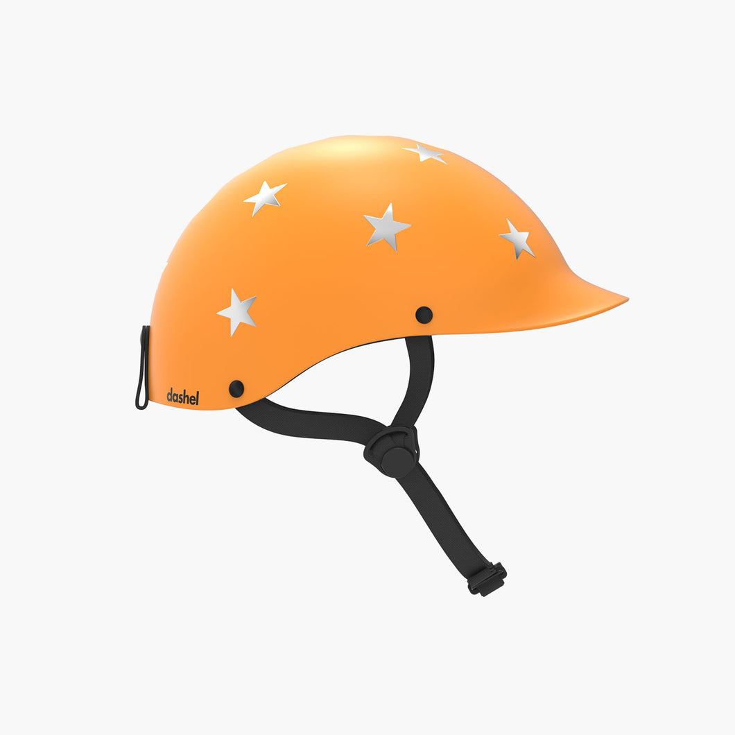 Kids Bike & Scooter Helmet - Stars Yellow