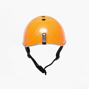 Carbon Fibre Cycle Helmet Orange - Gloss Finish