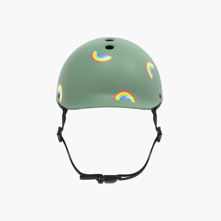 Kids Bike & Scooter Helmet - Rainbow Sage Green