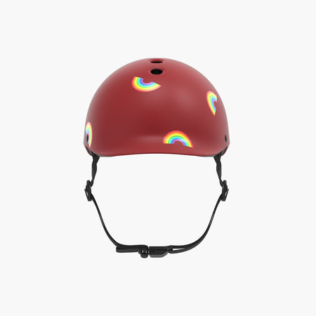 Kids Bike & Scooter Helmet - Rainbow Red