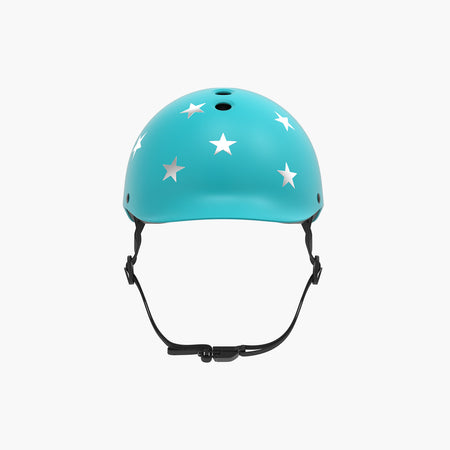 Kids Bike & Scooter Helmet - Stars Turquoise