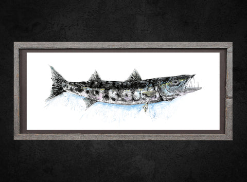 Barracuda Gyotaku (color)