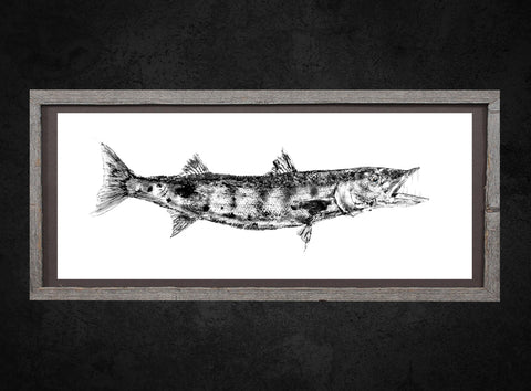 Barracuda Gyotaku