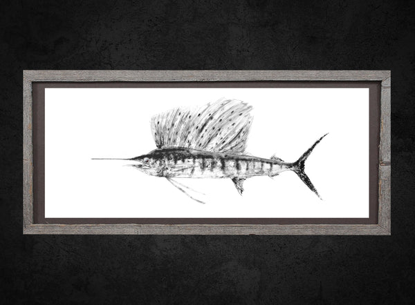 Sailfish Gyotaku