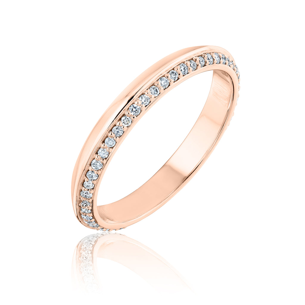 Pave Lance Band in 18kt rose gold with diamonds
