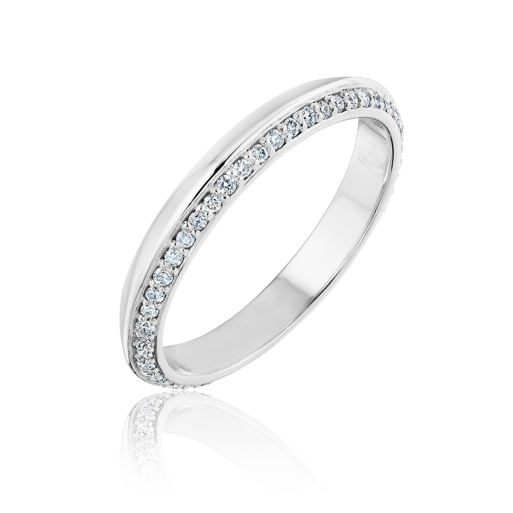 Pave Lance Band in 18kt white gold with diamonds