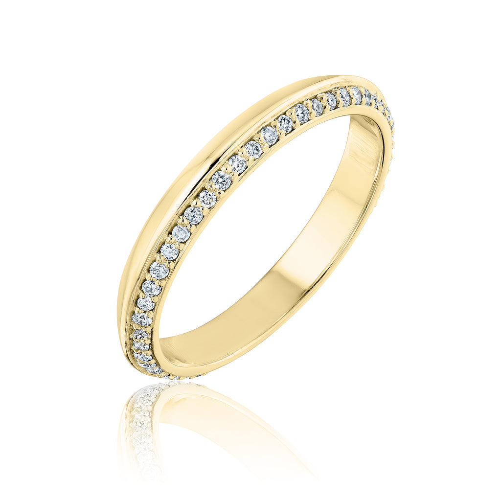 Pave Lance Band in 18kt yellow gold with diamonds