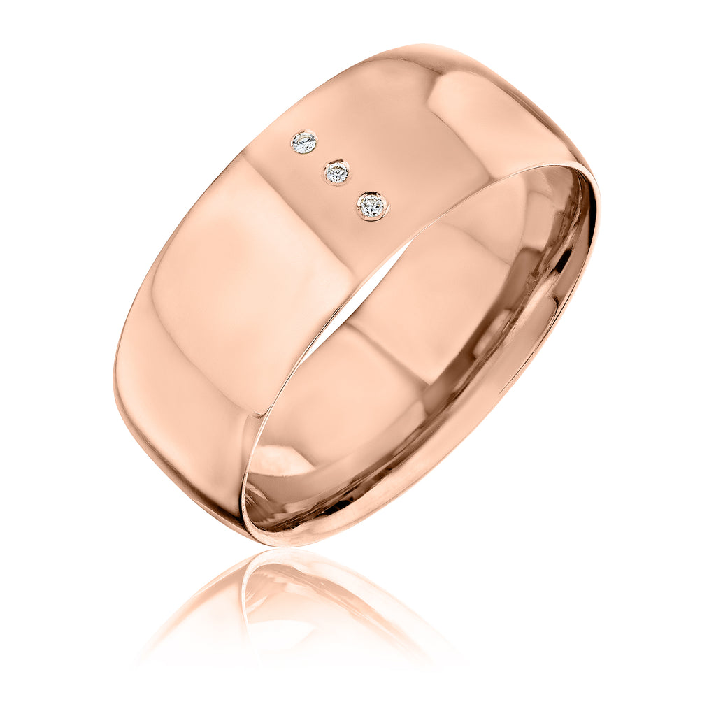 LVL band in 18kt rose gold with diamonds