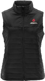 Women's Black Quilted Vest