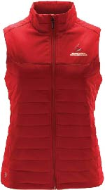 Women's Red Quilted Vest
