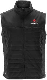 Men's Black Quilted Vest