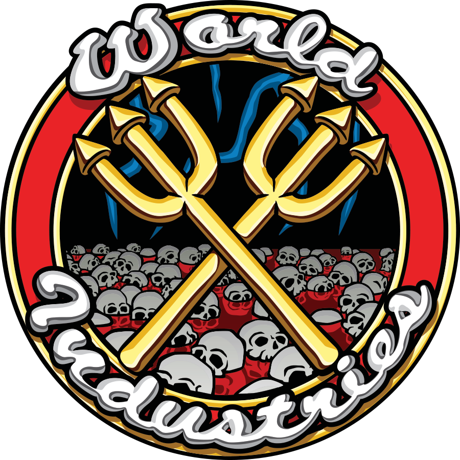 Limited Edition World Industries Stickers | Comic Logo Sticker