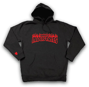 World Industries Flame Hoodie Black