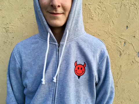 Devil Man Zip Up Hoodie