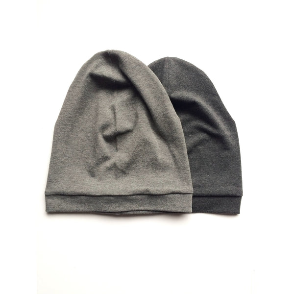 Dark Grey Slouchy Beanie - Dapper Jacks