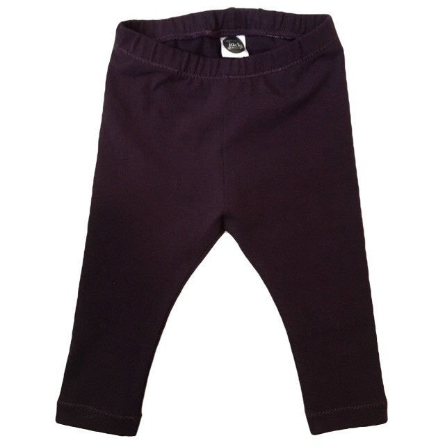 Aubergine Solid Leggings