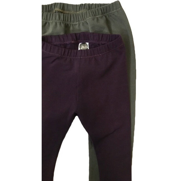 Aubergine Solid Leggings - Dapper Jacks