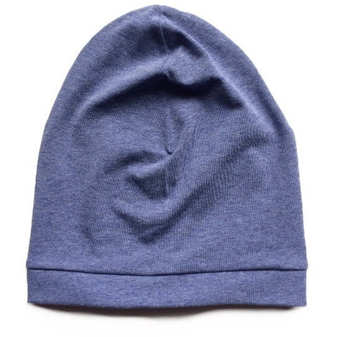 Mottled Blue Slouchy Beanie - Dapper Jacks
