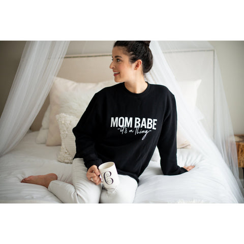 Mom Babe Women's Sweatshirt - Dapper Jacks