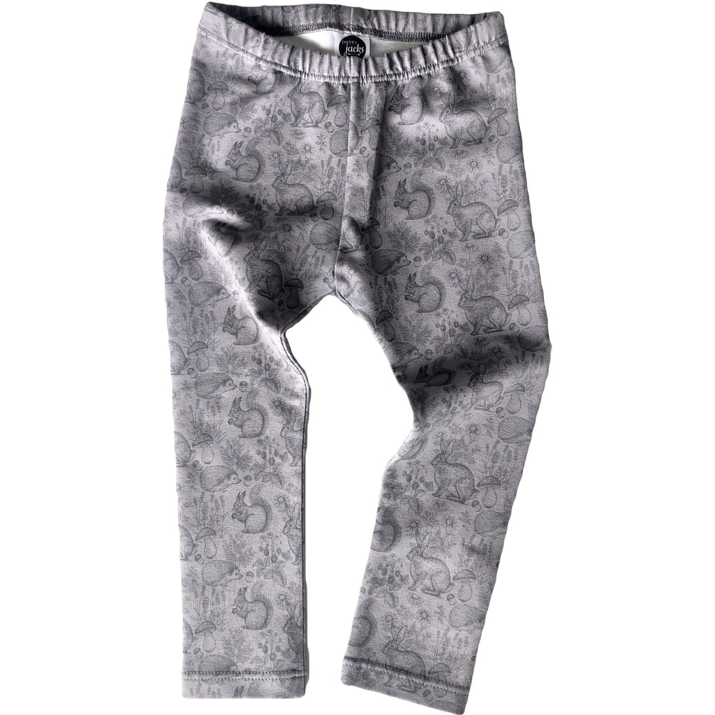 Grey Winter Animal Leggings
