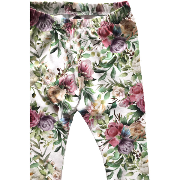 Summer Floral Leggings - Dapper Jacks