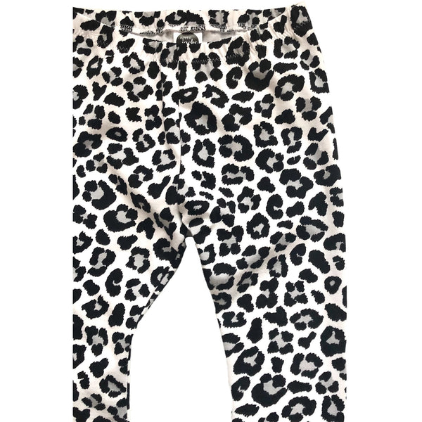 Monochrome Leopard Print Leggings - Dapper Jacks