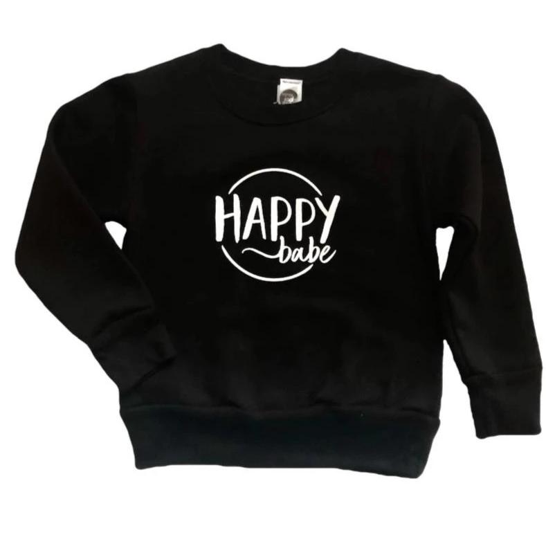 Happy Babe Sweatshirt - Dapper Jacks