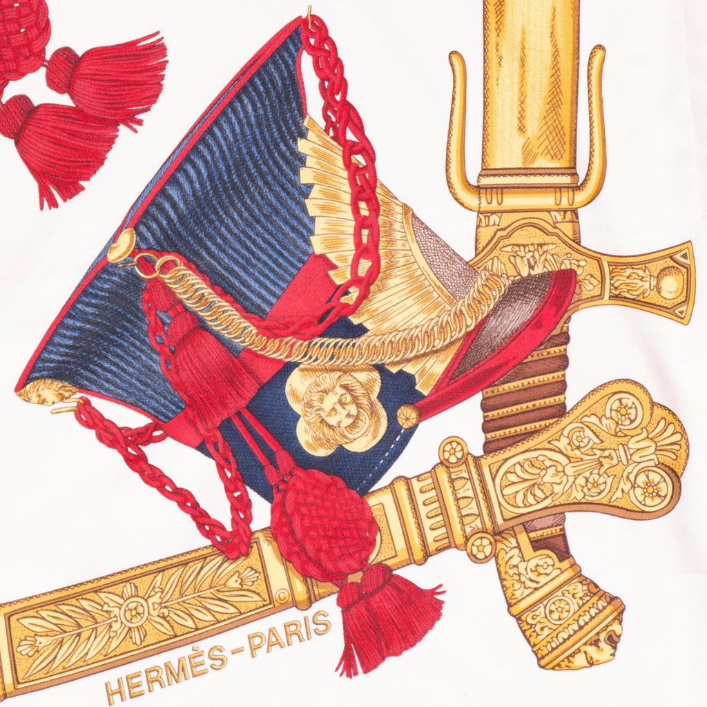 Hermes Printed Silk Scarf Scarves Hermès - Shop authentic new pre-owned designer brands online at Re-Vogue