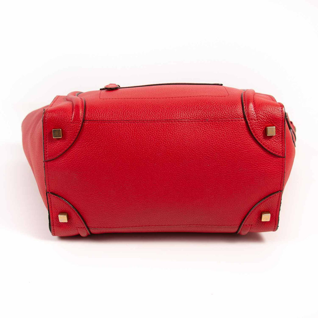 Celine Red Mini Luggage Tote Bag Bags Celine - Shop authentic new pre-owned designer brands online at Re-Vogue