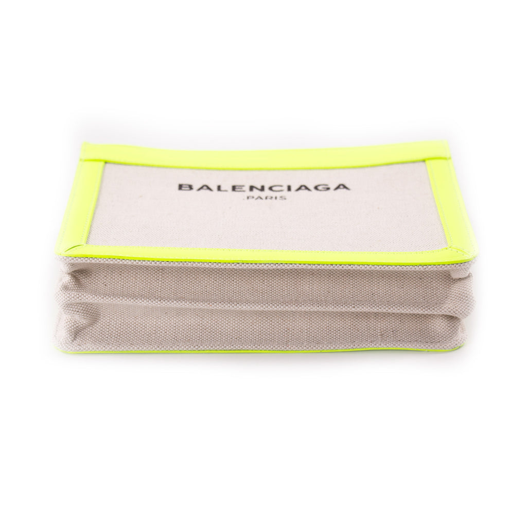 Balenciaga Leather and Canvas Shoulder Bag Bags Balenciaga - Shop authentic new pre-owned designer brands online at Re-Vogue