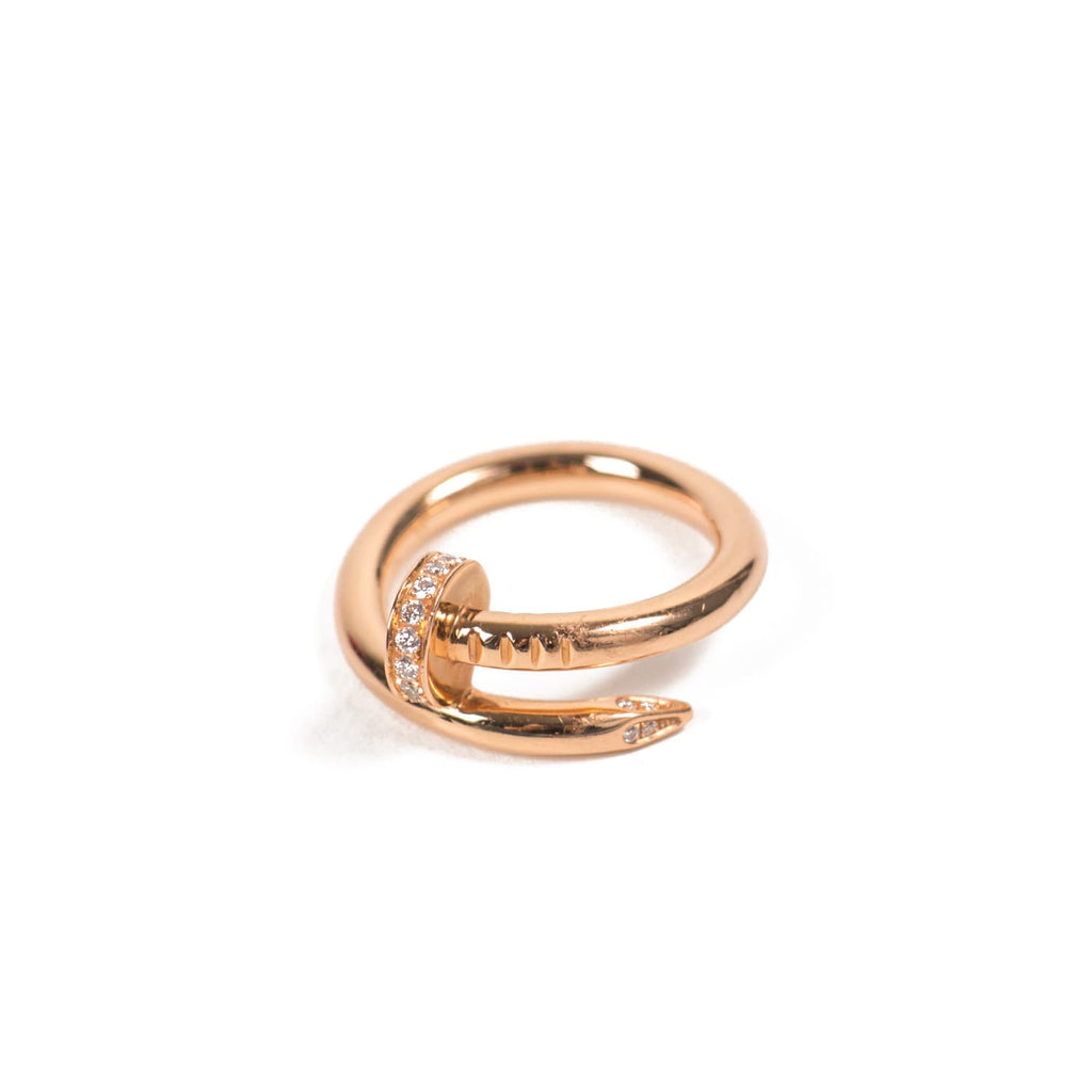 Cartier Yellow Gold Juste Un Clou Diamond Ring Accessories Cartier - Shop authentic new pre-owned designer brands online at Re-Vogue