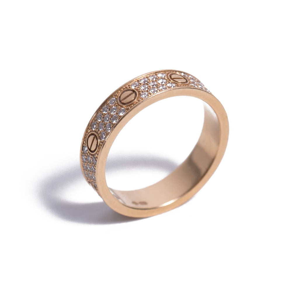 Cartier Love Ring Diamond Paved Accessories Cartier - Shop authentic new pre-owned designer brands online at Re-Vogue