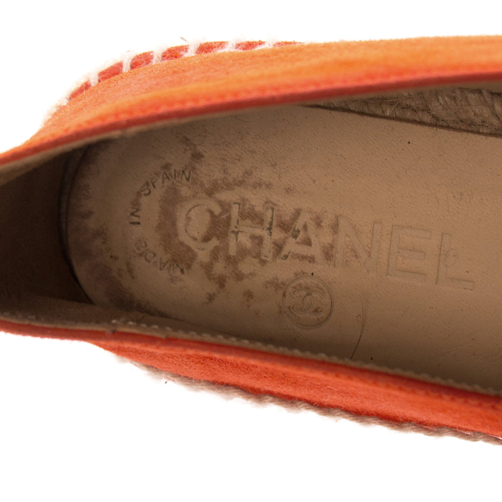 Chanel Red Suede Espadrilles Flat Shoes Chanel - Shop authentic new pre-owned designer brands online at Re-Vogue
