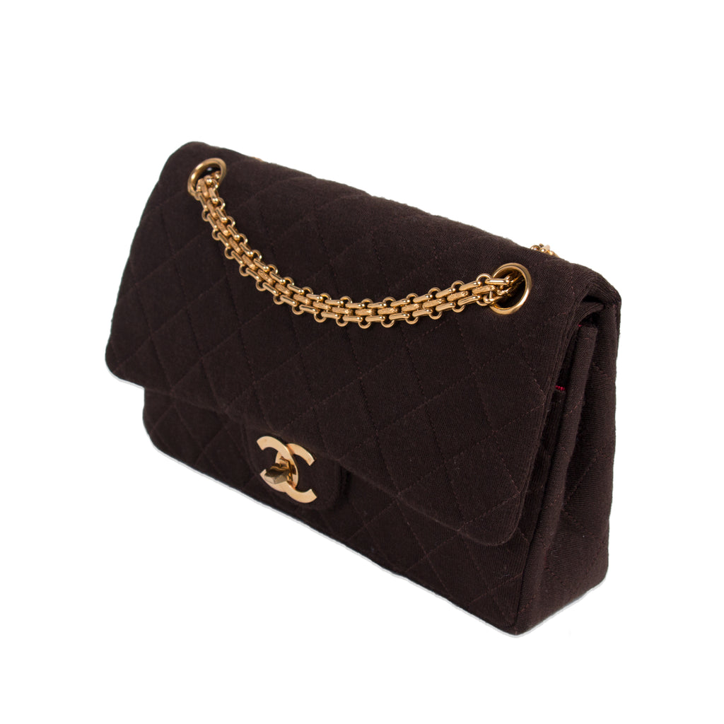 Chanel Vintage Classic Jersey Small Flap Bag Bags Chanel - Shop authentic new pre-owned designer brands online at Re-Vogue