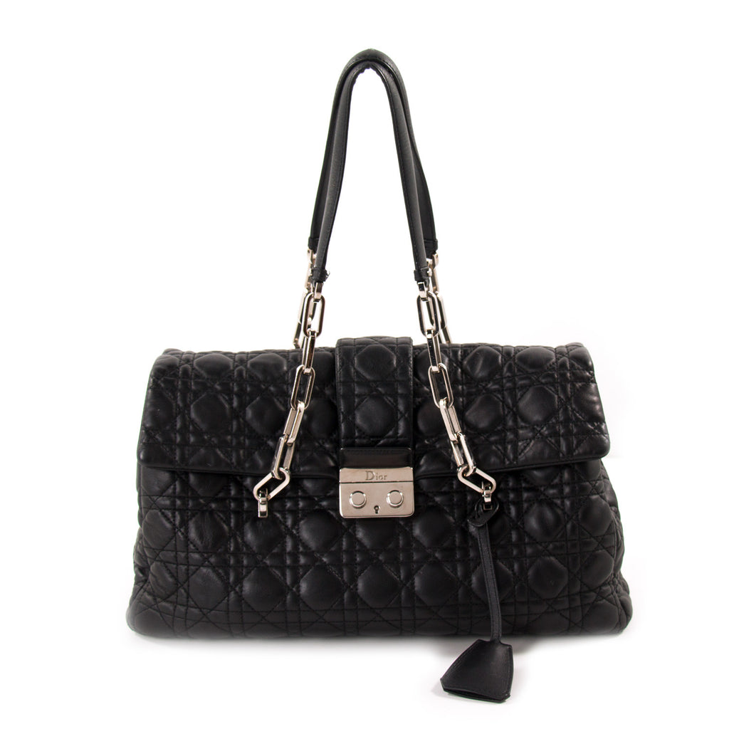 3ab2187c0cdb Shop authentic Christian Dior New Lock Large Flap Bag at revogue for ...