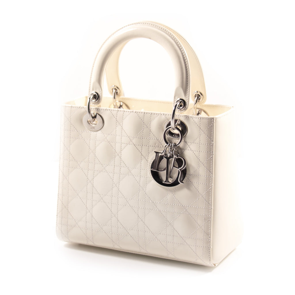 ... Christian Dior Lady Dior Medium Patent Leather Bags Dior - Shop  authentic new pre-owned ... 3533b206c8512