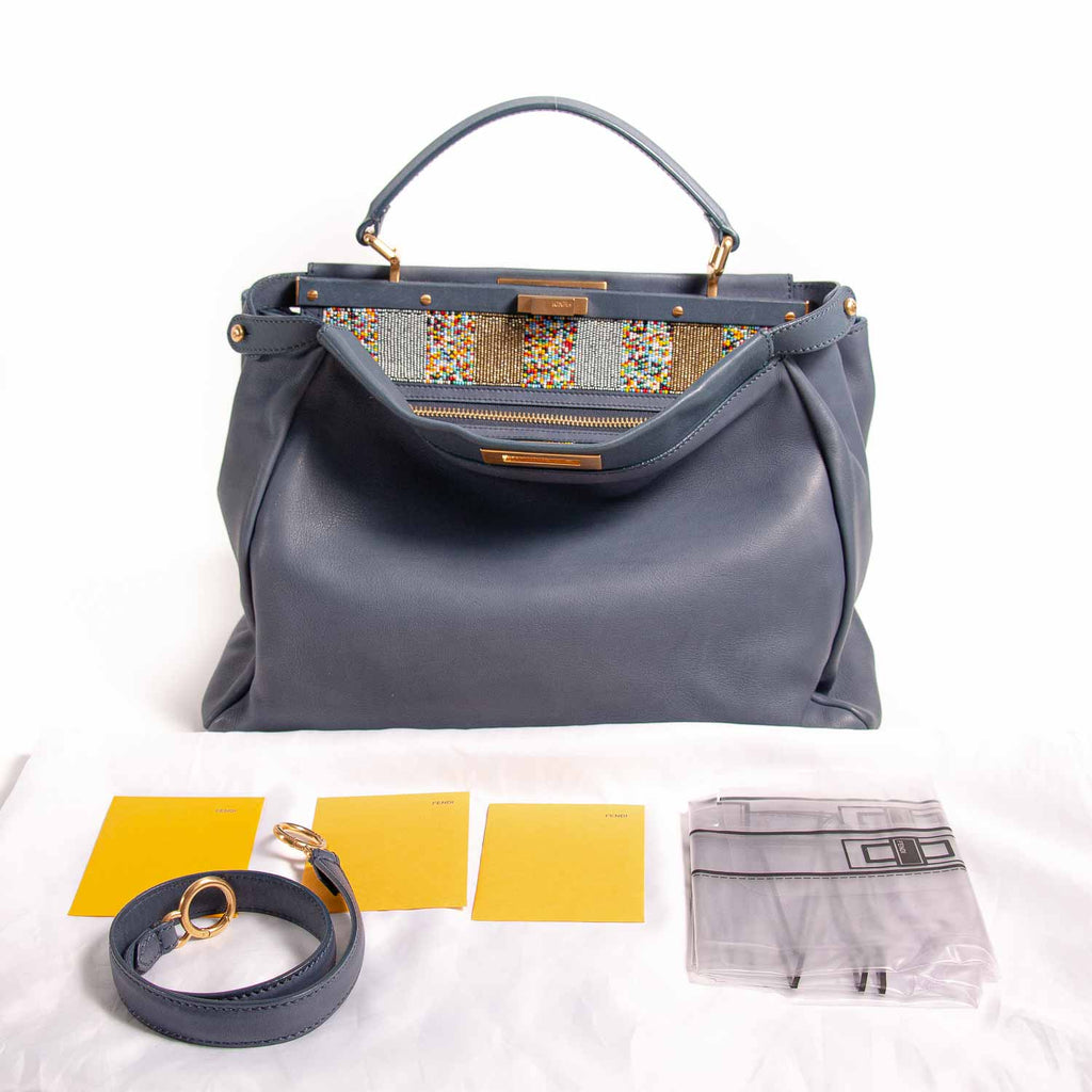 Fendi Large Beaded Peekaboo Bag Bags Fendi - Shop authentic new pre-owned designer brands online at Re-Vogue