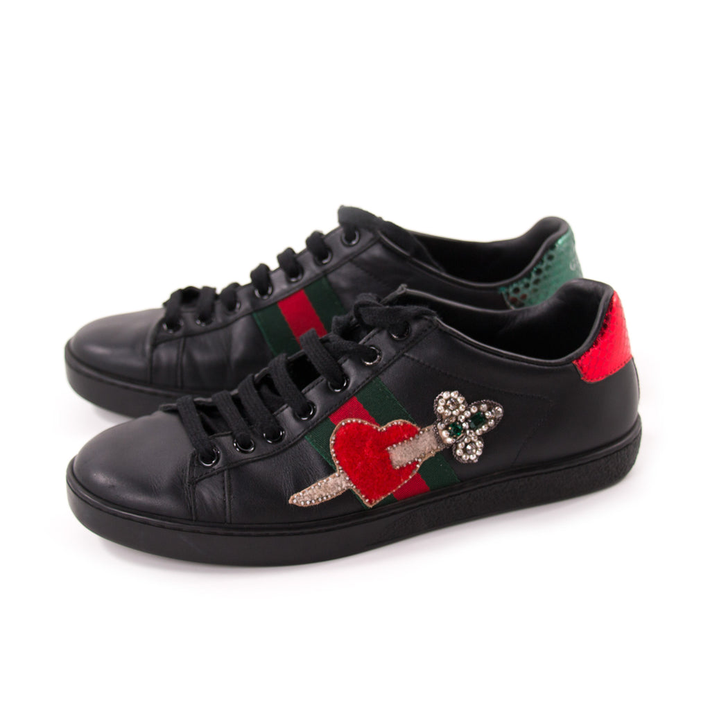 e3ec4d8bd96 Gucci Ace Leather Embroidered Sneaker Shoes Gucci - Shop authentic new  pre-owned designer brands