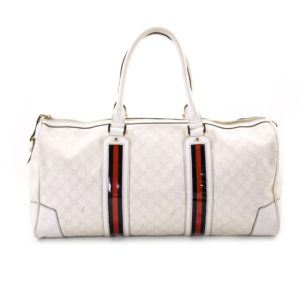 Gucci GG Large Web Duffle Bag Bags Gucci - Shop authentic new pre-owned designer brands online at Re-Vogue