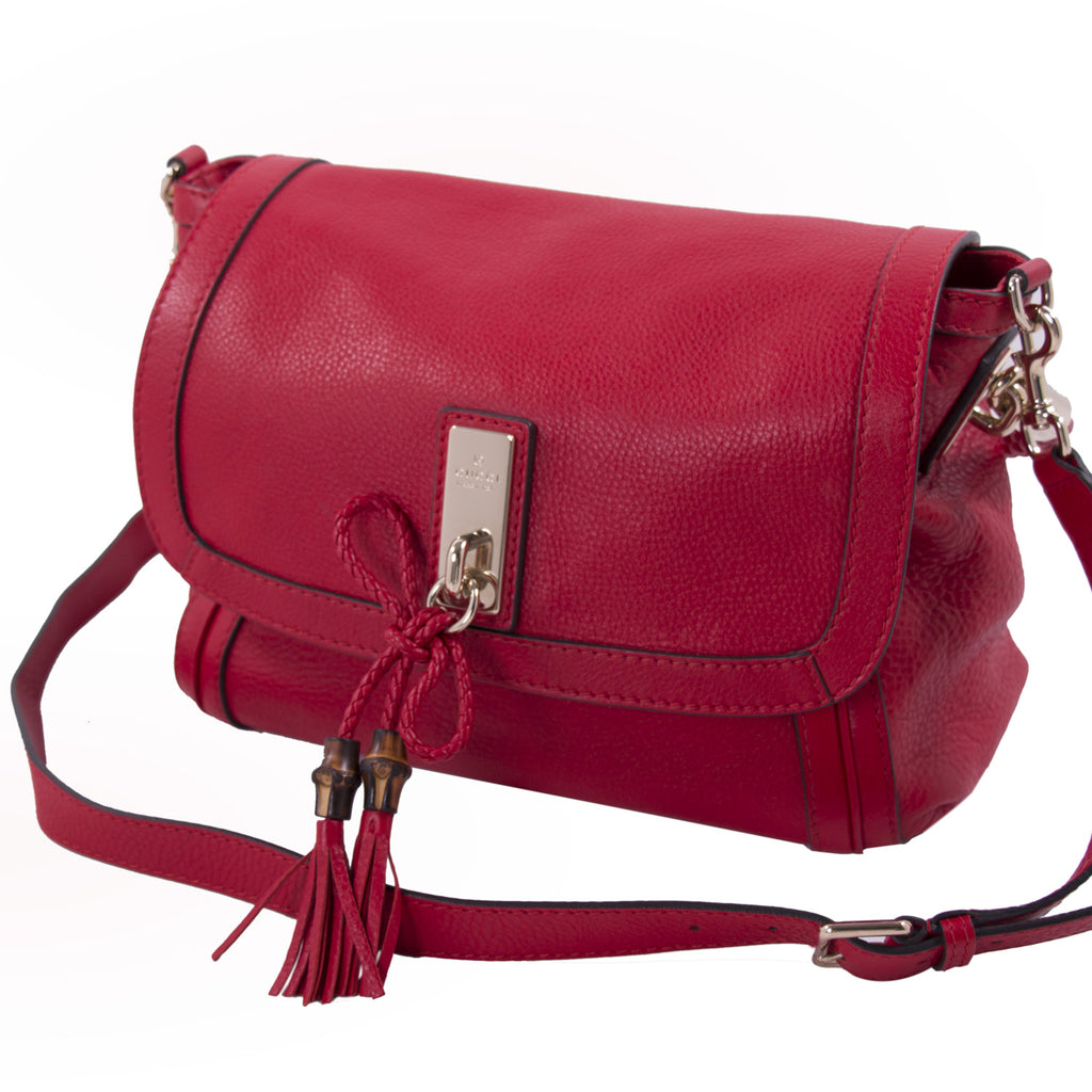 Gucci Bella Red Leather Shoulder Bag Bags Gucci - Shop authentic new pre-owned designer brands online at Re-Vogue