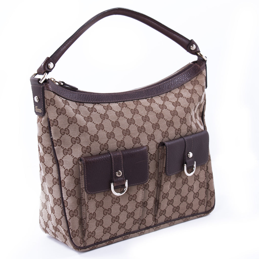 Gucci D-Ring Supreme Hobo Bag Bags Gucci - Shop authentic new pre-owned designer brands online at Re-Vogue