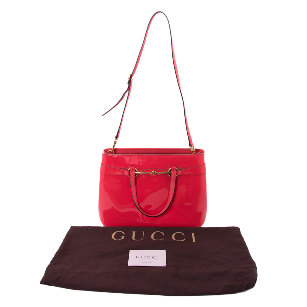 Gucci Patent Bright Bit Shoulder Bag Bags Gucci - Shop authentic new pre-owned designer brands online at Re-Vogue
