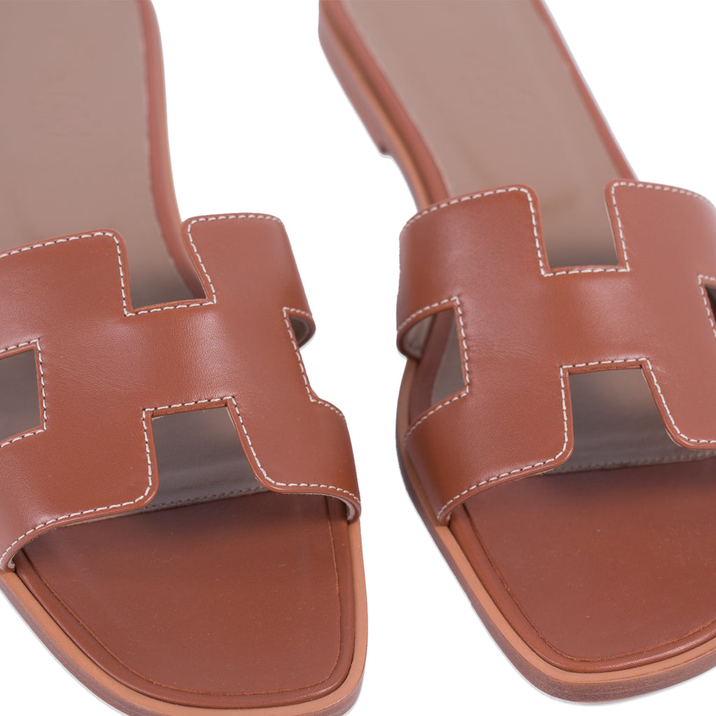 Hermès Oran Sandals Gold Shoes Hermès - Shop authentic new pre-owned designer brands online at Re-Vogue