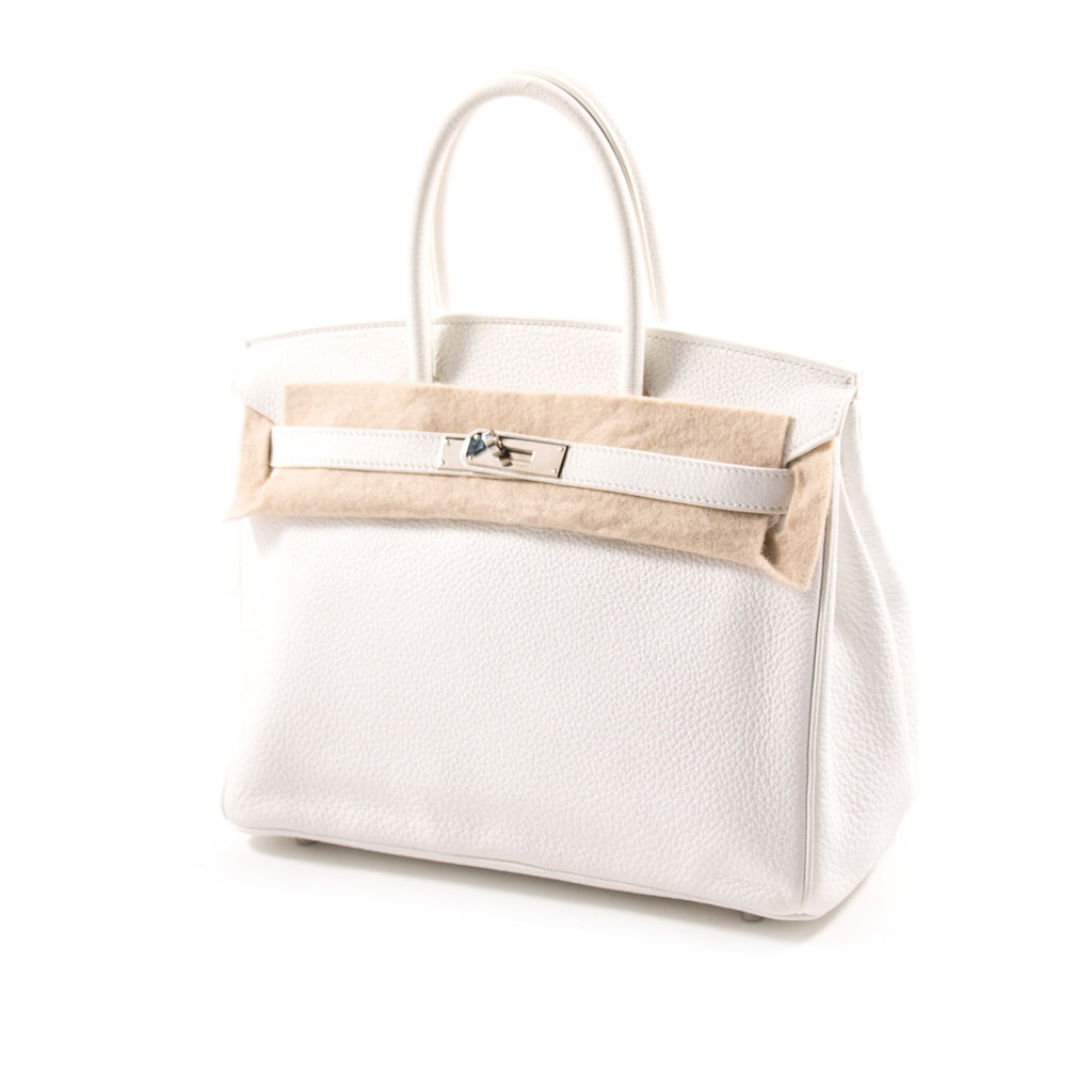 Hermès Birkin 30 White Clemence Leather Bags Hermès - Shop authentic new pre-owned designer brands online at Re-Vogue